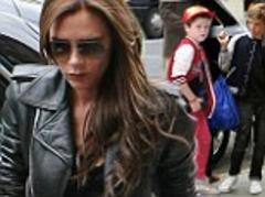 Victoria Beckham leads the way as the Beckhams head to Paris to see David play his last EVER football match