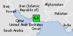 Green earthquake alert (magnitude 4.6M and depth 10km) in Iran 18/05/2013 12:09 UTC, 330000 people within 100km.