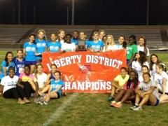 slhs girls track wins liberty district